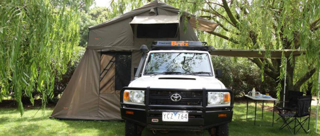 Darche was selected as Britz's exclusive supplier of roof top tent for the 4WD rental vehicles